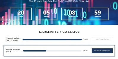DarcMatter ICO, DMC ICO